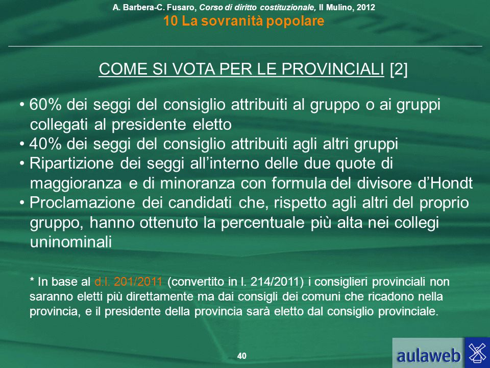 COME SI VOTA PER LE PROVINCIALI [2]